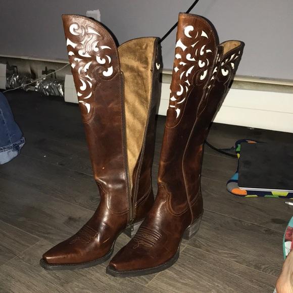 e4ef59a120a Ariat hacienda Carmel knee high western boots